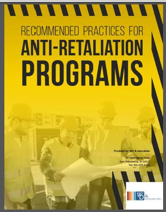 Anti Retaliation Document, yellow and black construction guys