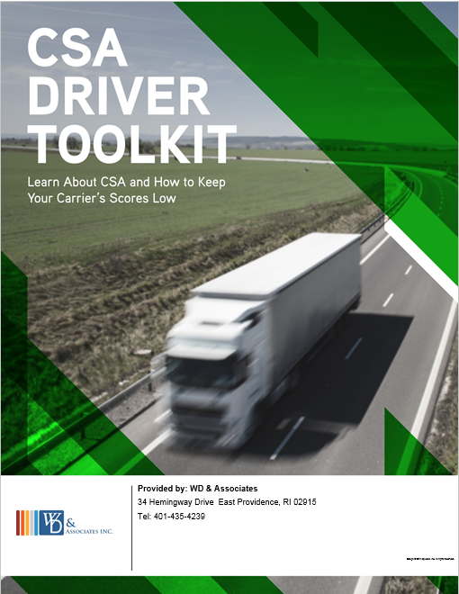 CSA driver toolkit, big semi truck driving highway