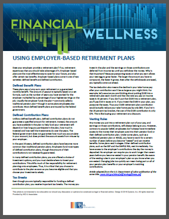 Using Employer based retirement plans