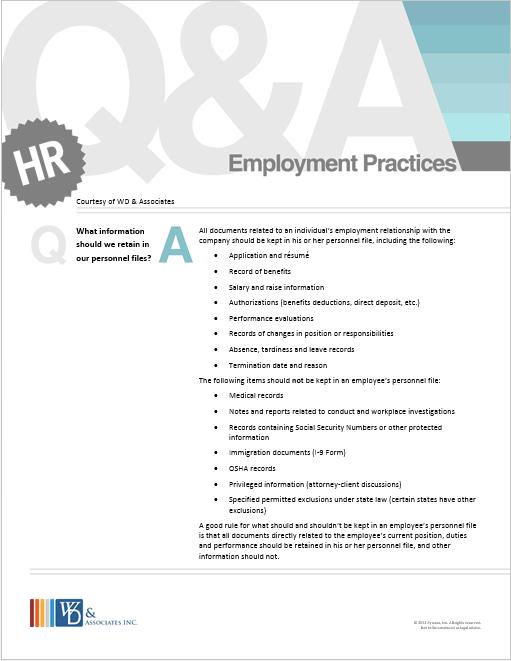 Employment Practices Q&A