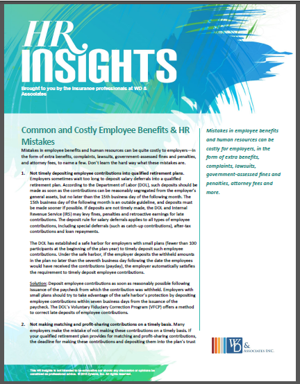 common and costly benefit mistakes white paper