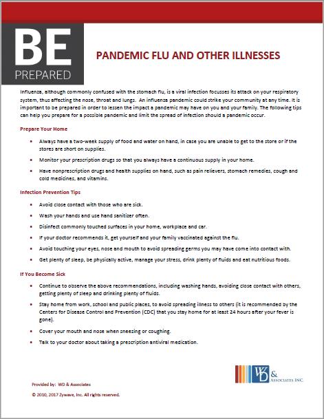 Be Prepared Pandemic