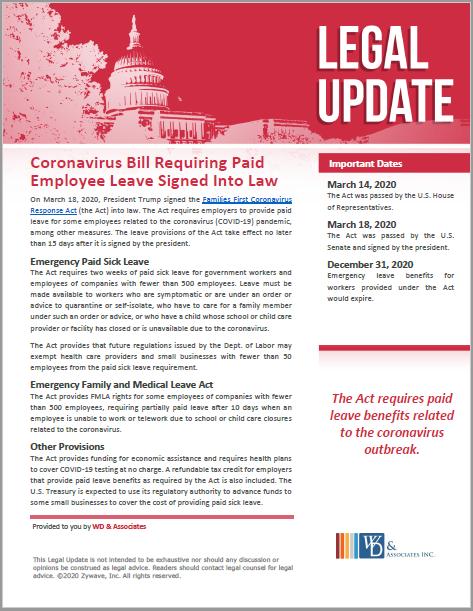 Coronavirus bill