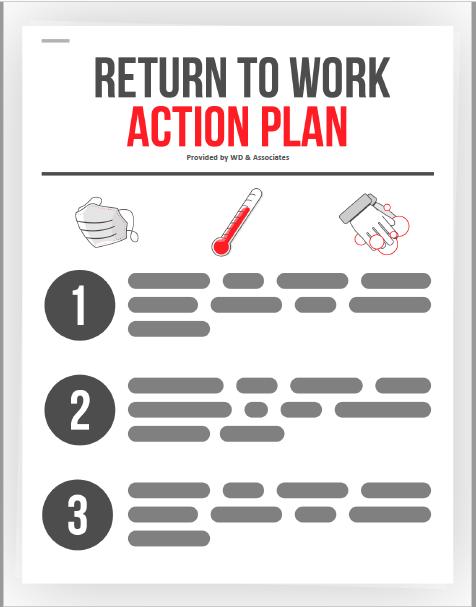Return to work Action plan