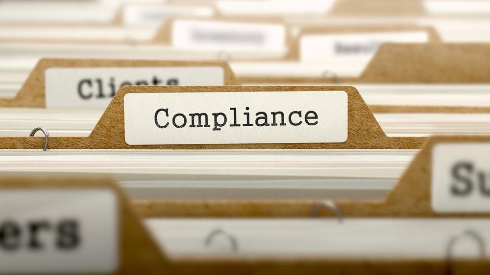 Compliance Concept. Word on Folder Register of Card Index. Selective Focus..jpeg