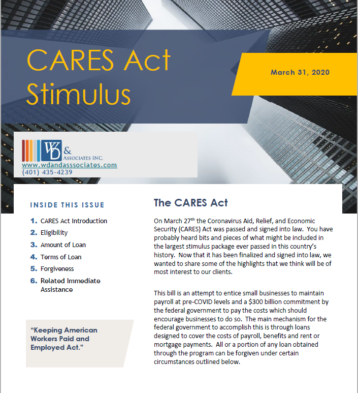 The CARES Act